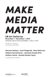 Make Media Matter exhibition, Maryam Muliaee